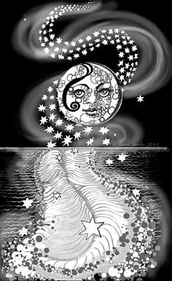 Poster featuring the digital art Lure Of Moonlight by Carol Jacobs