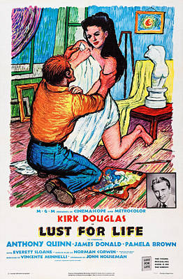 Lust For Life, Lower Right Kirk Douglas Poster