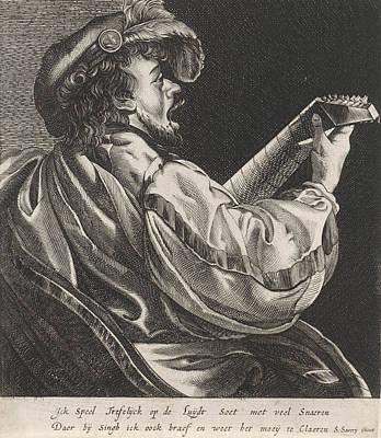 Lute Playing Man, Hendrick Ter Brugghen, Salomon Savery Poster by Artokoloro