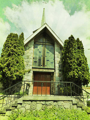 Poster featuring the photograph Lutheran Church by Laurie Tsemak