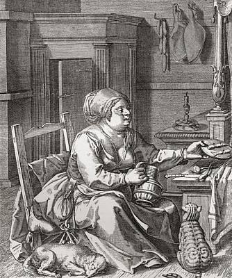 Luxuriance, After The Painting By Jodocus Van Winghe.  From Illustrierte Sittengeschichte Vom Poster by Bridgeman Images