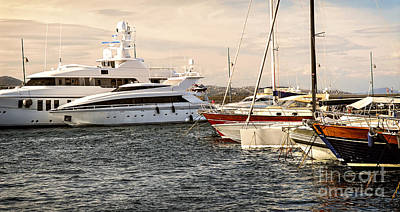 Luxury Boats At St.tropez Poster
