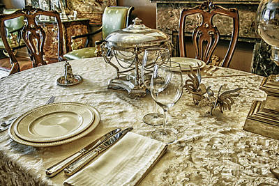 Luxury Table Setting With Silver Poster