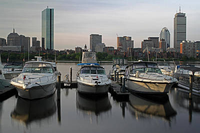 Luxury Yachts Of Boston Poster