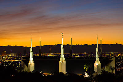 Lv Temple Sunset 3 Poster by Alan Nix