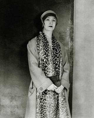Lynn Fontanne Wearing A Scarf Poster by Charles Sheeler