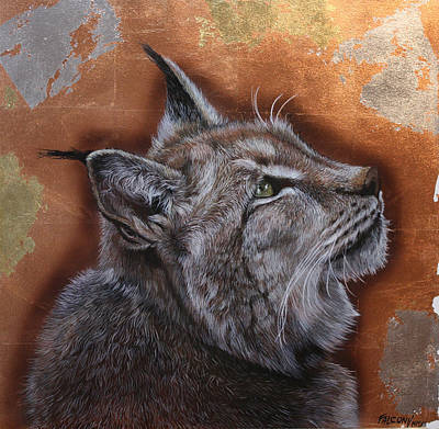 Lynx Face Poster by Susana Falconi