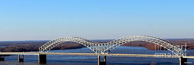 Poster featuring the photograph M Bridge Memphis Tennessee by Barbara Chichester
