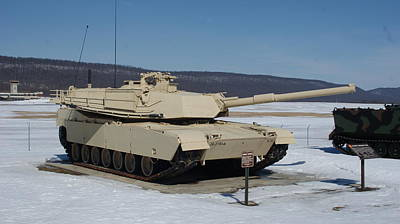 M1 Abrams Front Side Poster by Rob Luzier