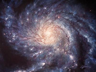 M101 Pinwheel Galaxy Poster