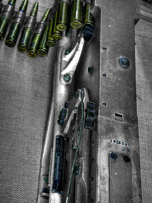 M1919 Browning Machine Gun V2 Poster by John Straton