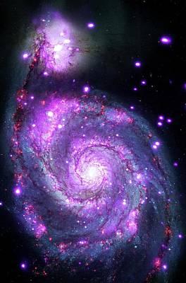 M51 Whirlpool Galaxy Poster by Nasa/cxc/wesleyan Univ./r.kilgard, Et Al/stsci