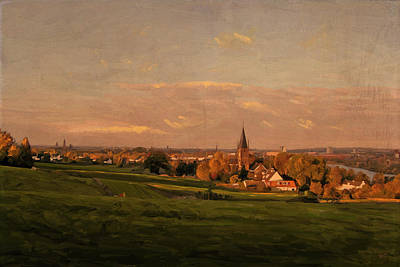 Poster featuring the painting Maastricht Seen From Sint Pieter by Nop Briex