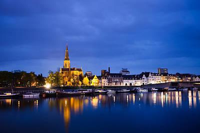 Maastricht Sint-martinuskerk And Maas River Poster