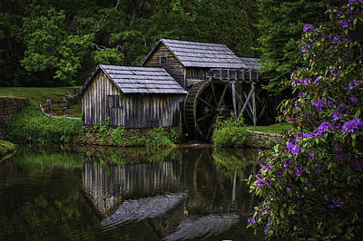 Mabry Mill In Spring Poster
