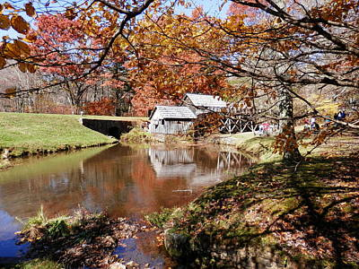 Mabry's Mill In October Poster by Angelia Hodges Clay