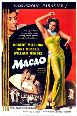 Macao, Top Left Robert Mitchum, Right Poster by Everett