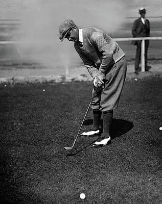 Macdonald Smith Playing Golf Poster by  Fotograms