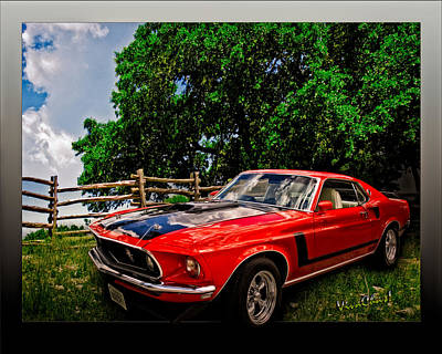 1969 Ford Mach 1 Mustang Poster