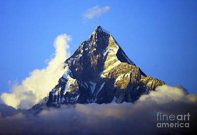 Poster featuring the photograph Machapuchare - Sacred Mountain by Jacqi Elmslie