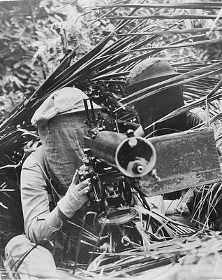 Machine Gunners In The Caribbean Area Poster by Stocktrek Images