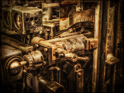 Machine Part Poster by Dobromir Dobrinov