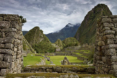 Machu Picchu Through The Roof Poster