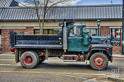 Mack Dump Poster by Keith Ducker