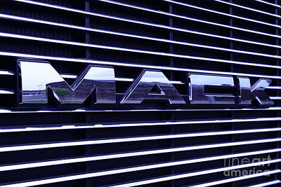 Mack Truck Grill Poster by Paul Ward