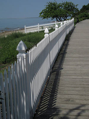 Mackinac Island Boardwalk Poster by Mary Bedy
