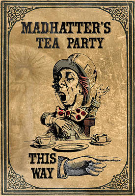Mad Hatters Tea Party Poster by Greg Sharpe