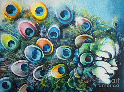 Madam Peacock Poster by Alessandra Andrisani