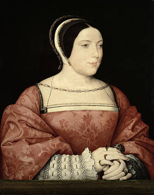 Madame De Canaples, C.1525 Oil On Panel Poster by Jean Clouet or Cloet