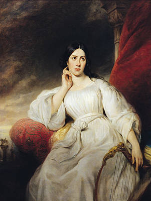 Madame Malibran 1808-36 In The Role Of Desdemona, 1830 Oil On Canvas Poster by Henri Decaisne