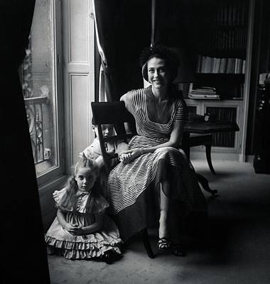 Madame Marcel Rochas With Her Children Poster