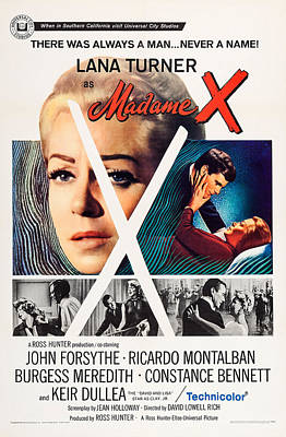Madame X, Top L-r Lana Turner, Keir Poster by Everett