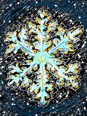 Madeline Snowflake Poster