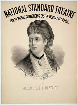 Mademoiselle Beatrice Poster by British Library