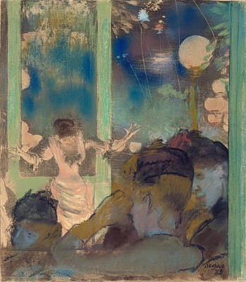 Mademoiselle Becat At The Cafe Des Ambassadeurs Poster by Edgar Degas