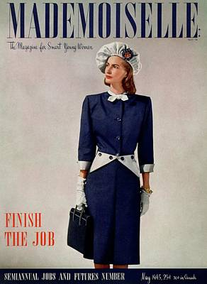 Mademoiselle Cover Featuring A Model In A Duchess Poster by Fritz Henle