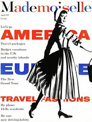 Mademoiselle Cover Featuring A Model Wearing Poster by Somoroff