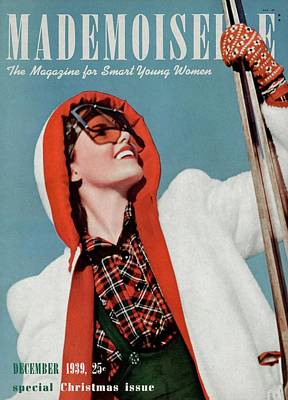 Mademoiselle Cover Featuring A Skier Poster