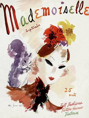 Mademoiselle Cover Featuring A Woman Poster