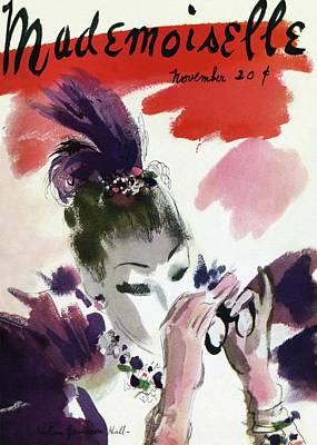 Mademoiselle Cover Featuring A Woman Looking Poster