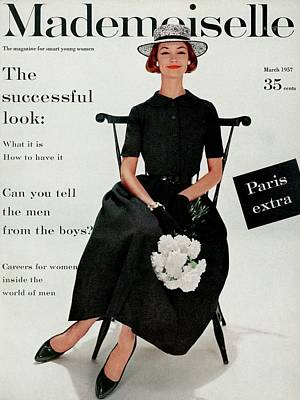 Mademoiselle Cover Featuring Model Dolores Poster