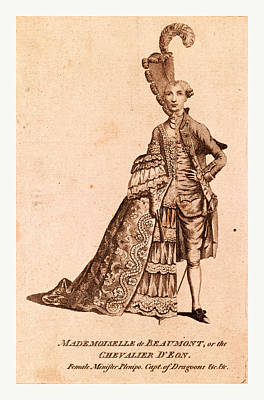 Mademoiselle De Beaumont Or The Chevalier Deon Poster
