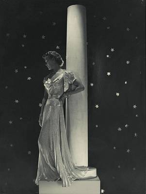 Mademoiselle Lind Wearing A Mainbocher Dress Poster