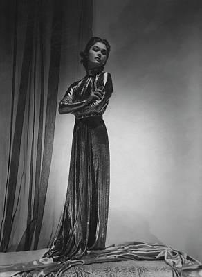 Mademoiselle Lind Wearing A Piguet Dress Poster