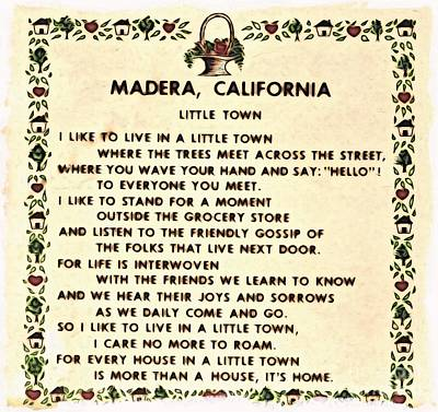 Madera Ca Little Town  Poster