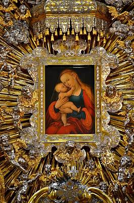 Madonna And Child By Lucas Cranach Poster